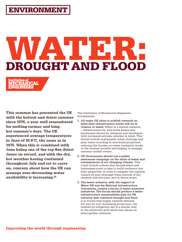 water drought and flood
