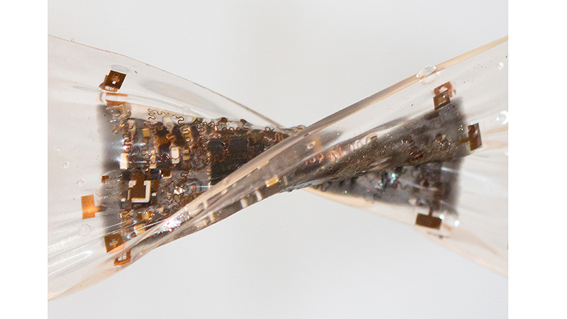 Researchers stretch the limits of flexible electronics for new biomedical device Image