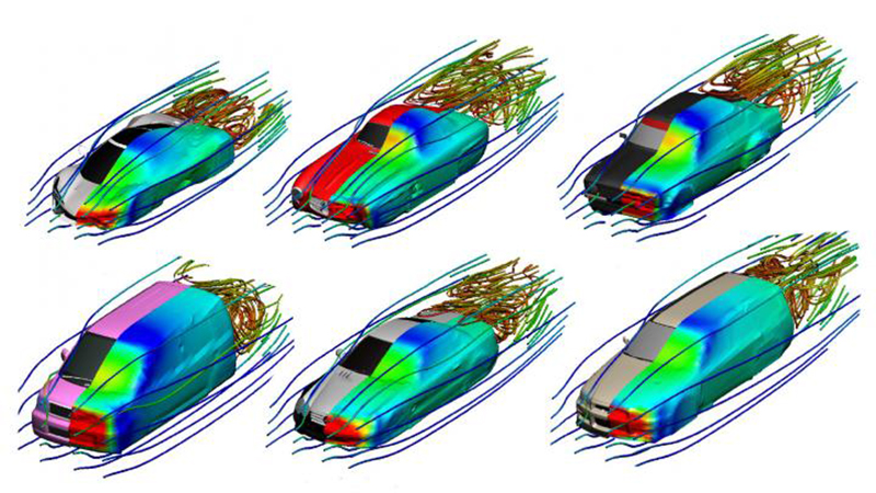 Real-time airflow simulation tool could cut car and plane development times Image