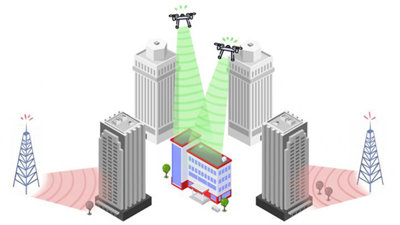 Mobile network transmitters on drones 'improve phone coverage by 40%'Image
