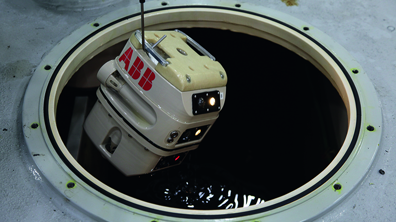 ABB TXplore robot takes a dip in transformer oil to protect human workers Image