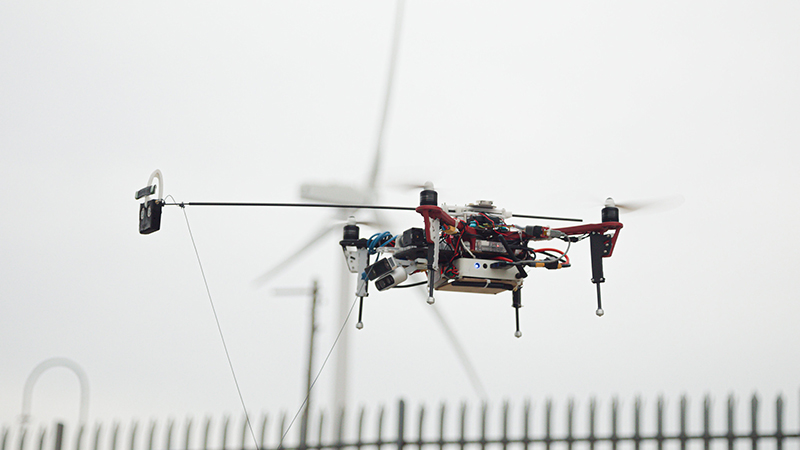 This drone could patch up offshore wind turbines without human control Image