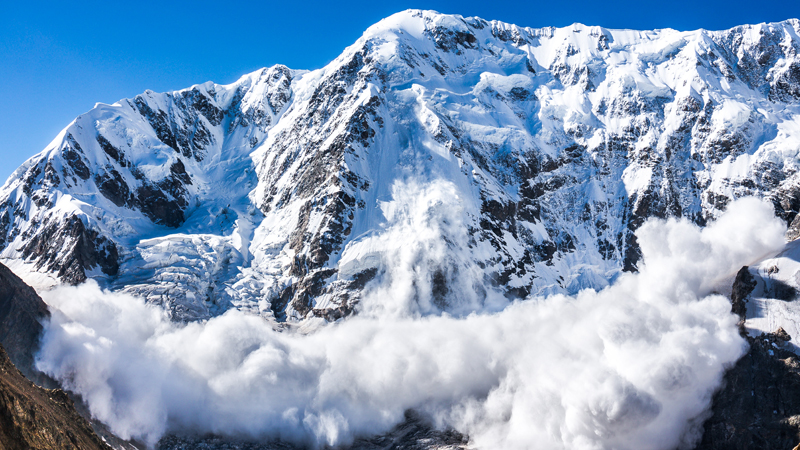 New radar sensors can be used to see inside avalanches Image