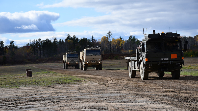 World first' as UK and US armies test autonomous lorries and