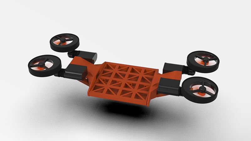 Meet the drone that can fly, drive and swim Image