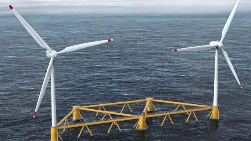 World's first multi-turbine floating offshore wind platform design revealedImage