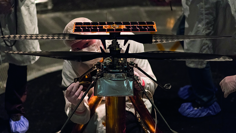 NASA's Mars Helicopter prepares for flight in thin, cold Red Planet atmosphereImage