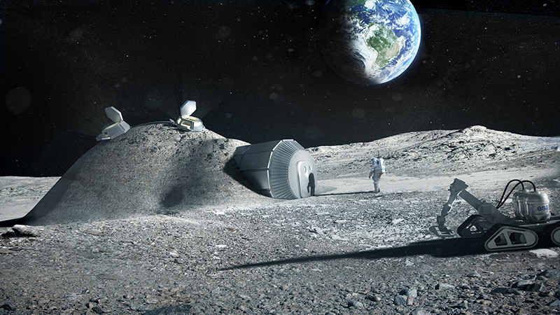 Astronaut urine could be a vital ingredient for moon base construction Image