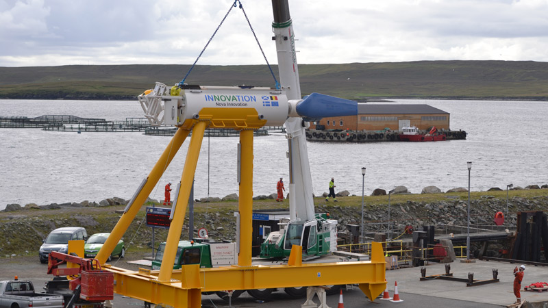 World's first commercial tidal array delivers power to National GridImage