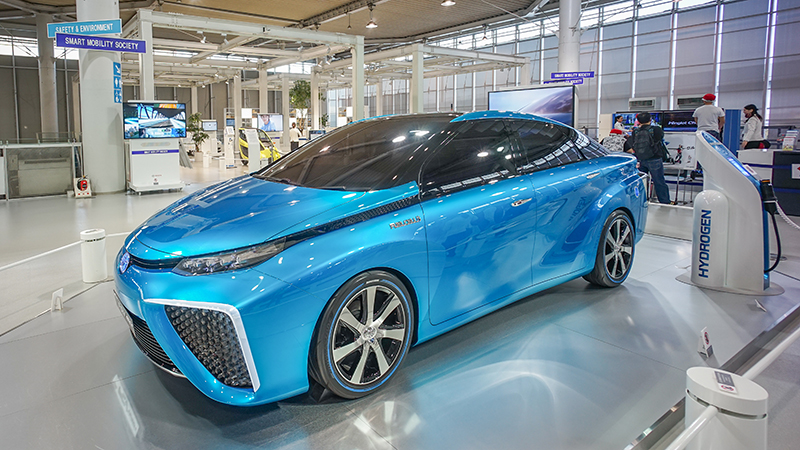 A Prototype Toyota Hydrogen Fuel Cell Car Credit Shutterstock
