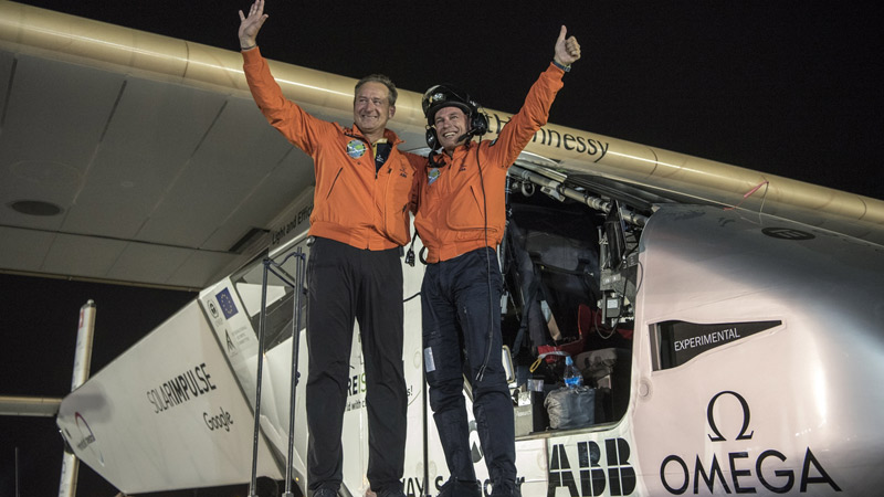 Solar Impulse completes first round the world solar flightImage